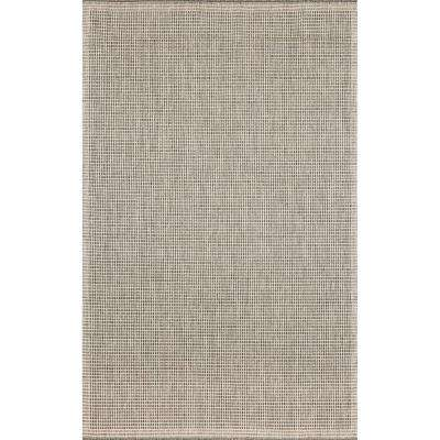Baxter Solid Silver/Ivory 5 ft. x 8 ft. Indoor/Outdoor Area Rug