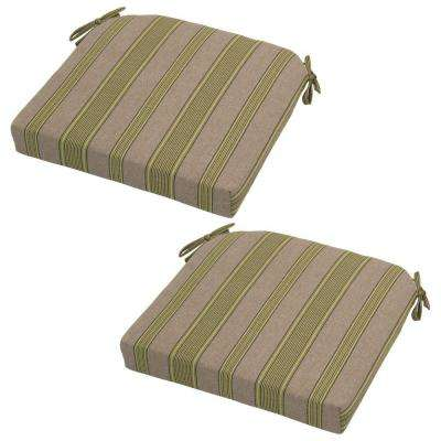 Luxe Stripe Deluxe Outdoor Seat Cushion (2-Pack)
