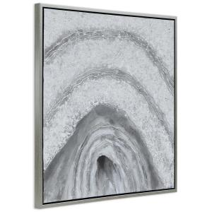 Empire Art Direct Gray Cave Abstract Textured Metallic Hand