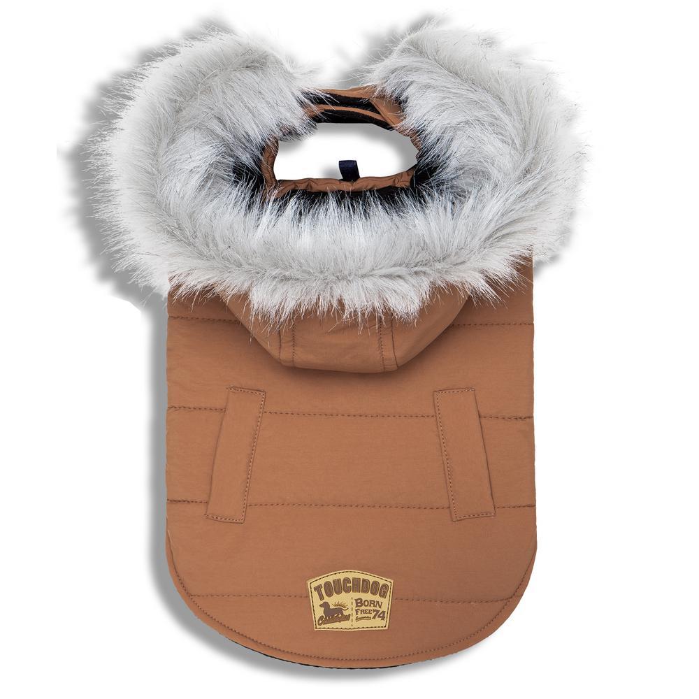 Medium Brown Eskimo-Swag Duck-Down Parka Dog Coat