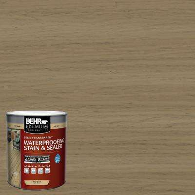 1 qt. #ST-121 Sandal Semi-Transparent Waterproofing Exterior Wood Stain and Sealer