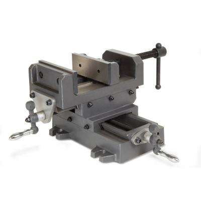 5.25 in. Compound Cross Slide Industrial Strength Benchtop and Drill Press Vise