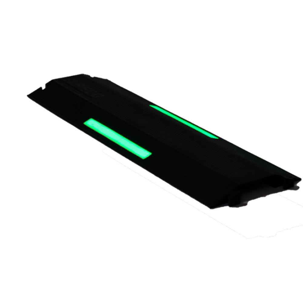 Elasco 3 ft. Single Channel 4 in. Wire/Cord Channel with Glow in the Dark Strip, Black