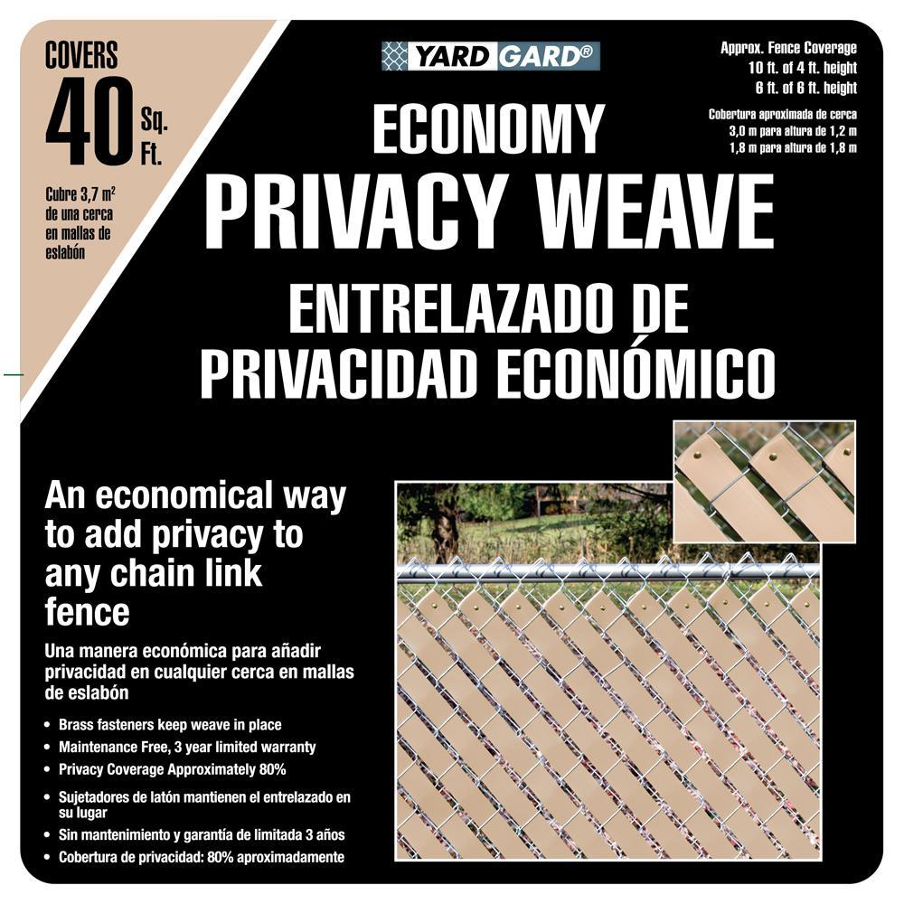 4 ft. H x 250 ft. W Beige Economy Vinyl Fence Weave