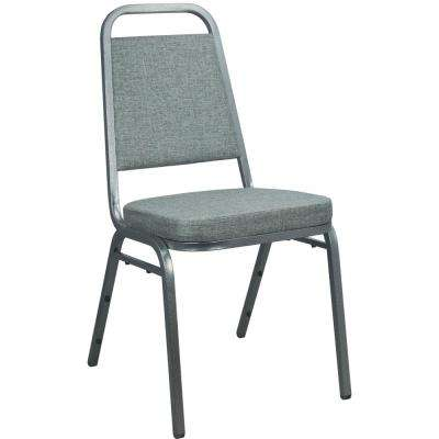 Charcoal Gray Fabric-padded Stackable Banquet Chairs (Set of 2)