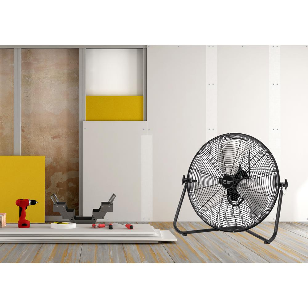 Commercial Electric 20 in. 3-Sd High Velocity Floor Fan on