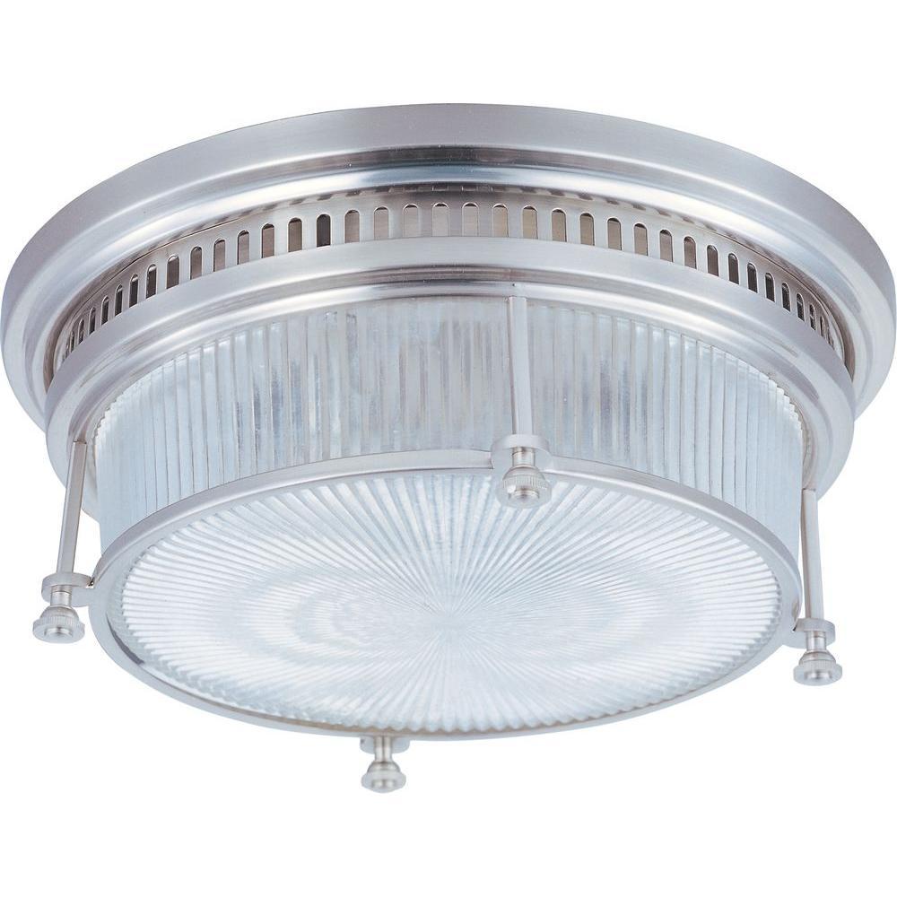 Maxim Lighting Hi-Bay 2-Light Satin Nickel Flush Mount-25000CLSN ...
