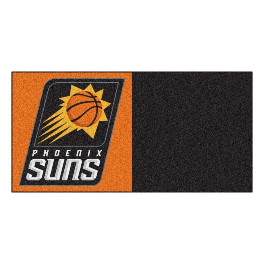 NBA Phoenix Suns Orange and Black Pattern 18 in. x 18