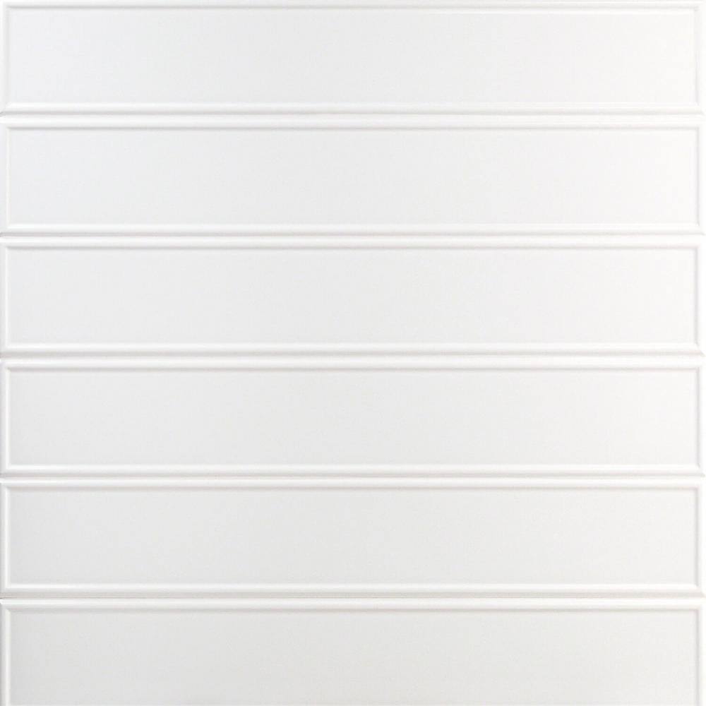 Ivy Hill Tile Cavanaugh Frame White 4 in. x 24 in. x 11mm Polished Ceramic Subway Wall Tile (8 pieces / 5.16 sq. ft. / box)