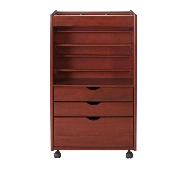 Home Decorators Collection Stanton 20 in. W Wrapping Cart in Dark Cherry