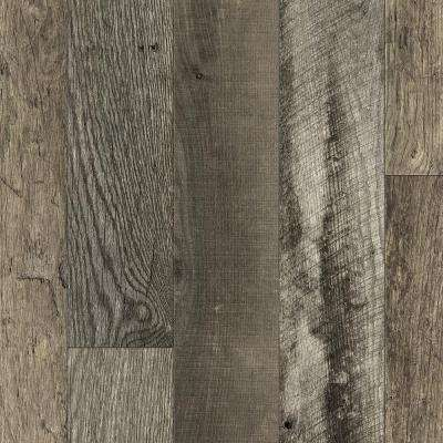 8 in. x 10 in. Laminate Sheet in Reclaimed Oak Planked with Virtual Design SoftGrain Finish
