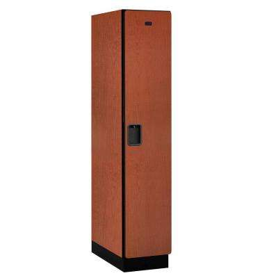 21000 Series Single-Tier 24 in. D 1-Compartment Extra Wide Designer Particle Board Locker in Cherry