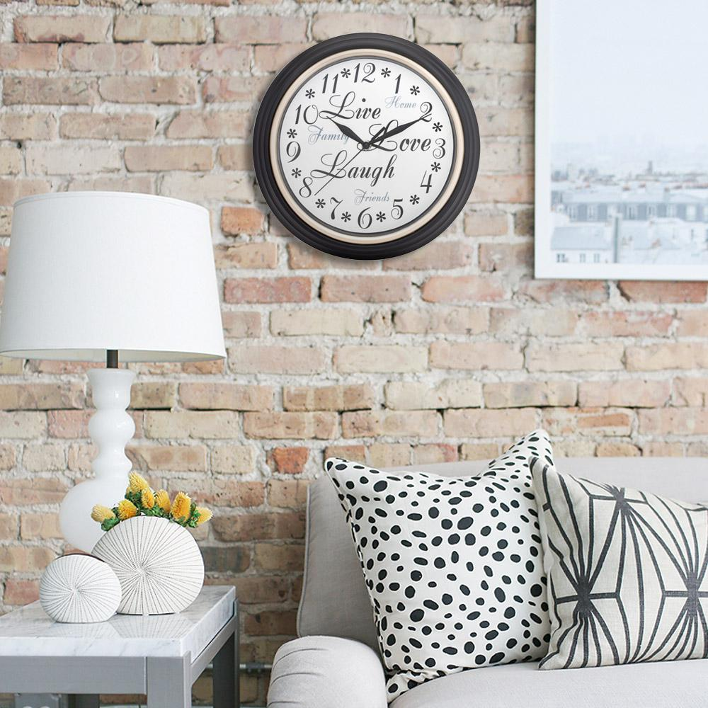 Westclox 12 in. Round Inspirational Wall Clock-32032A - The Home Depot