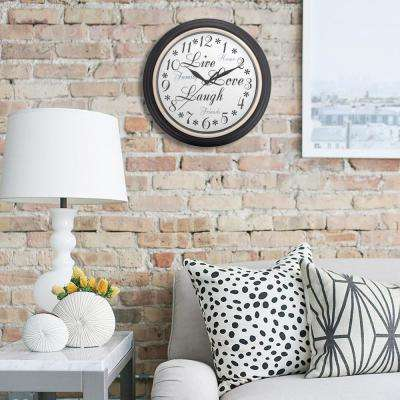 12 in. Round Inspirational Wall Clock