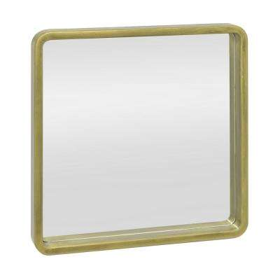 Square Wood Framed Decorative Wall Mirror