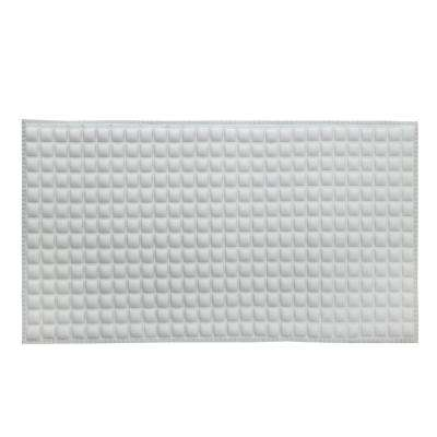 Pillow Top Plus Safety 15 in. x 27 in. Bath Mat in Gray