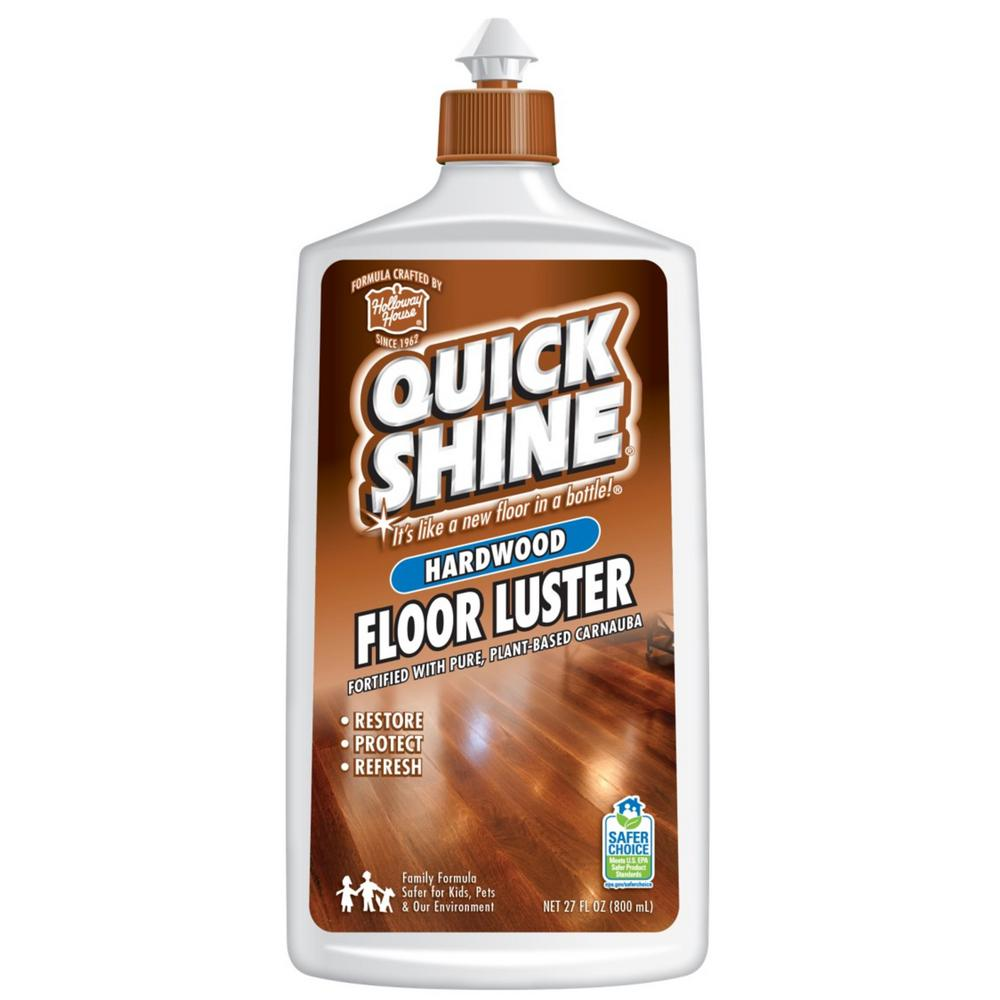 Quick Shine 27 Oz Hardwood Floor Luster 77773 The Home Depot
