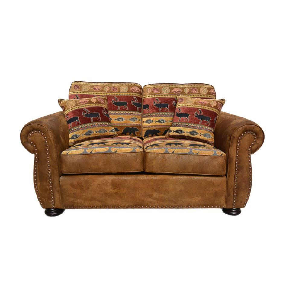 Hunter Transitional Loveseat in Wildlife Pattern