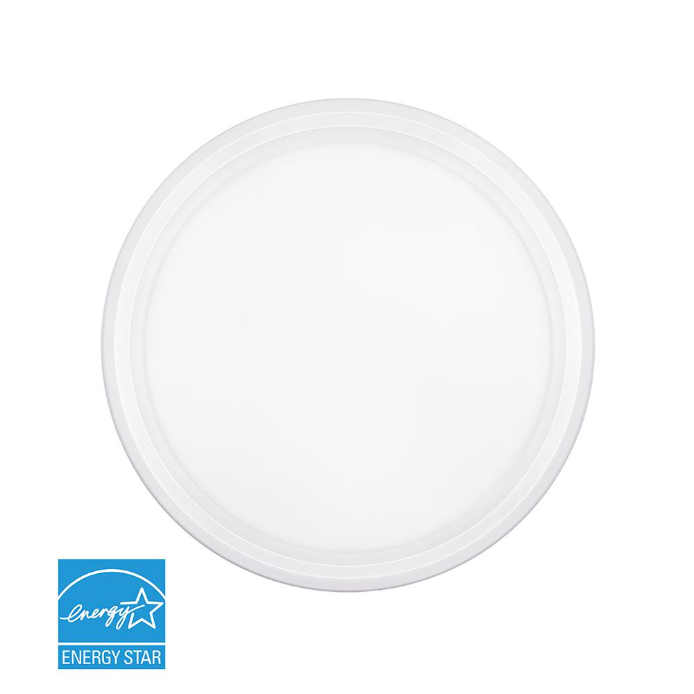 11.5-Watt White Integrated LED Ceiling Flush Mount