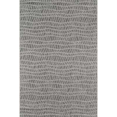 Emilia Grey 9 ft. 3 in. x 12 ft. 6 in. Indoor/Outdoor Area Rug