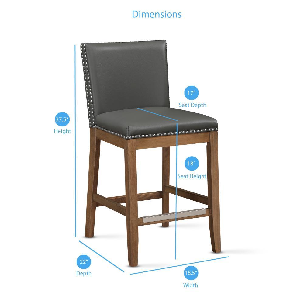 Cool Somerville 25 In Grey Cushioned Counter Stool 3212 025G Uwap Interior Chair Design Uwaporg
