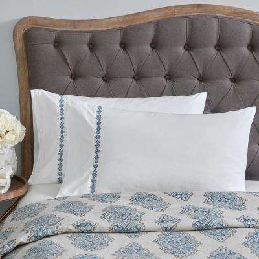 Monroe White King Embroidered Pillowcases (Set Of 2)