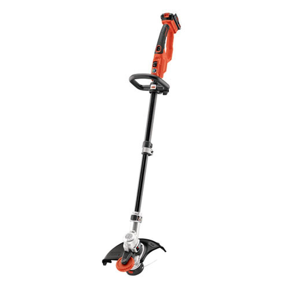 Black Decker 12 In 20v Max Lithium Ion Cordless 2 In 1 String Grass Trimmer Lawn Edger With 1 4 0ah Battery And Charger Included Lst400 The Home Depot