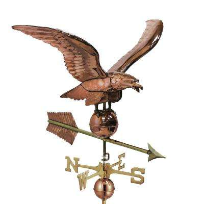 34 in. Smithsonian Eagle Estate Weathervane - Pure Copper