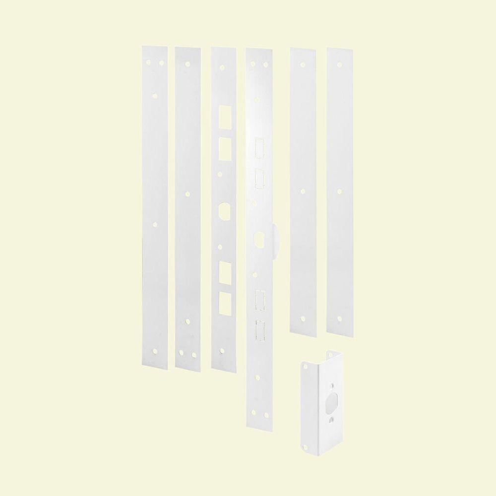 Door frame door frame kits home depot - Null White Powder Coated Door Jamb Reinforcing And Repair Kit