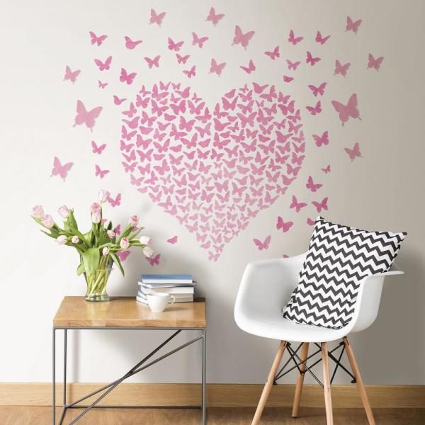 Pink Heart To Heart Wall Quote