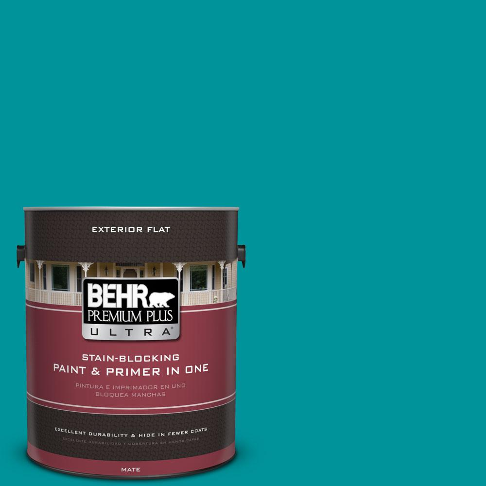 BEHR Premium Plus Ultra 1-gal. #500B-6 Peacock Feather Flat Exterior Paint