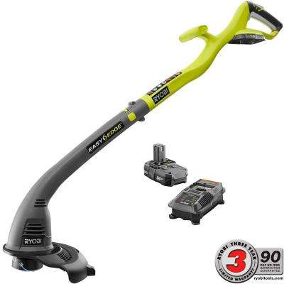 ONE+ 18-Volt Lithium-Ion Electric Cordless String Trimmer and Edger - 1.3 Ah Battery and Charger Included