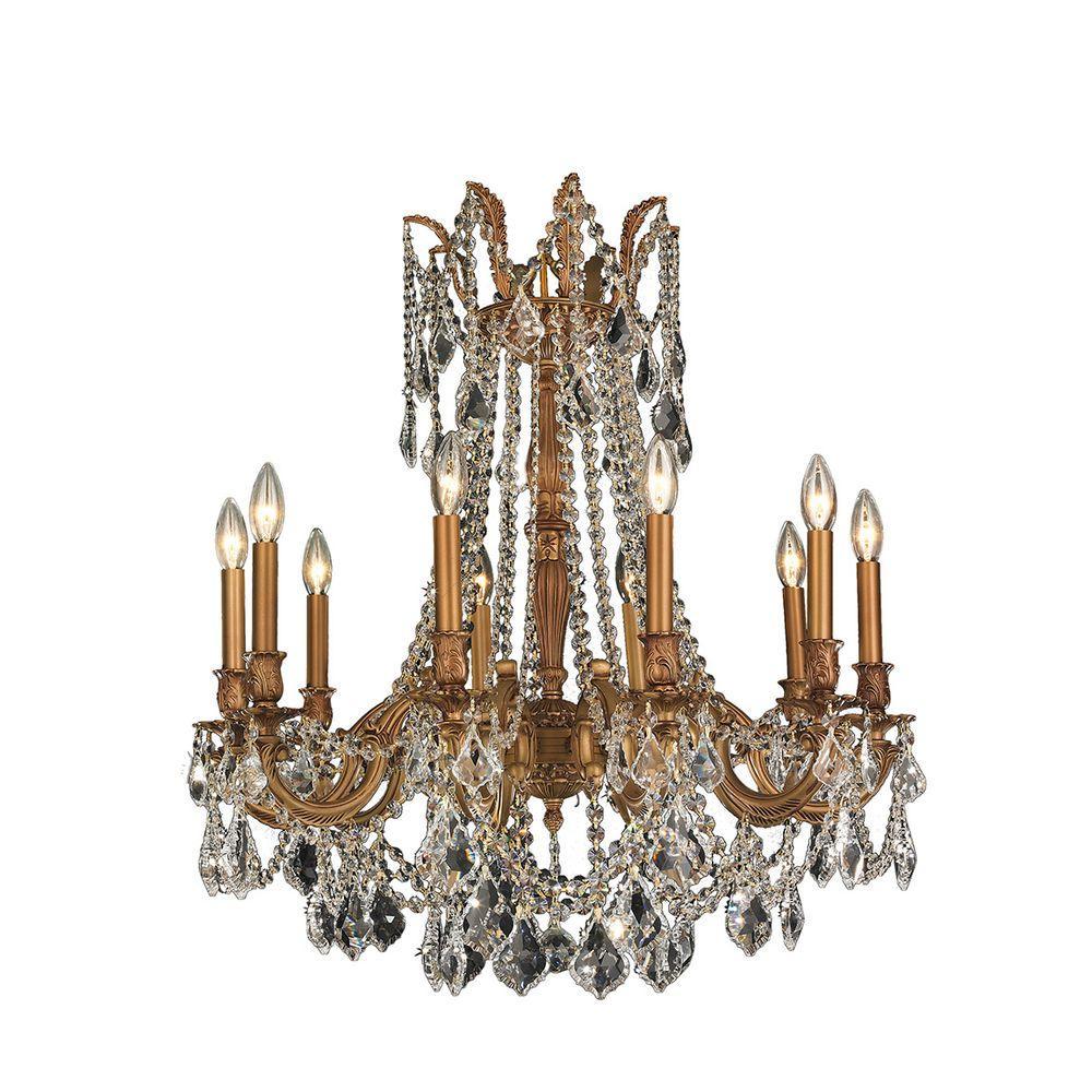 Windsor 10-Light French Gold Crystal Chandelier