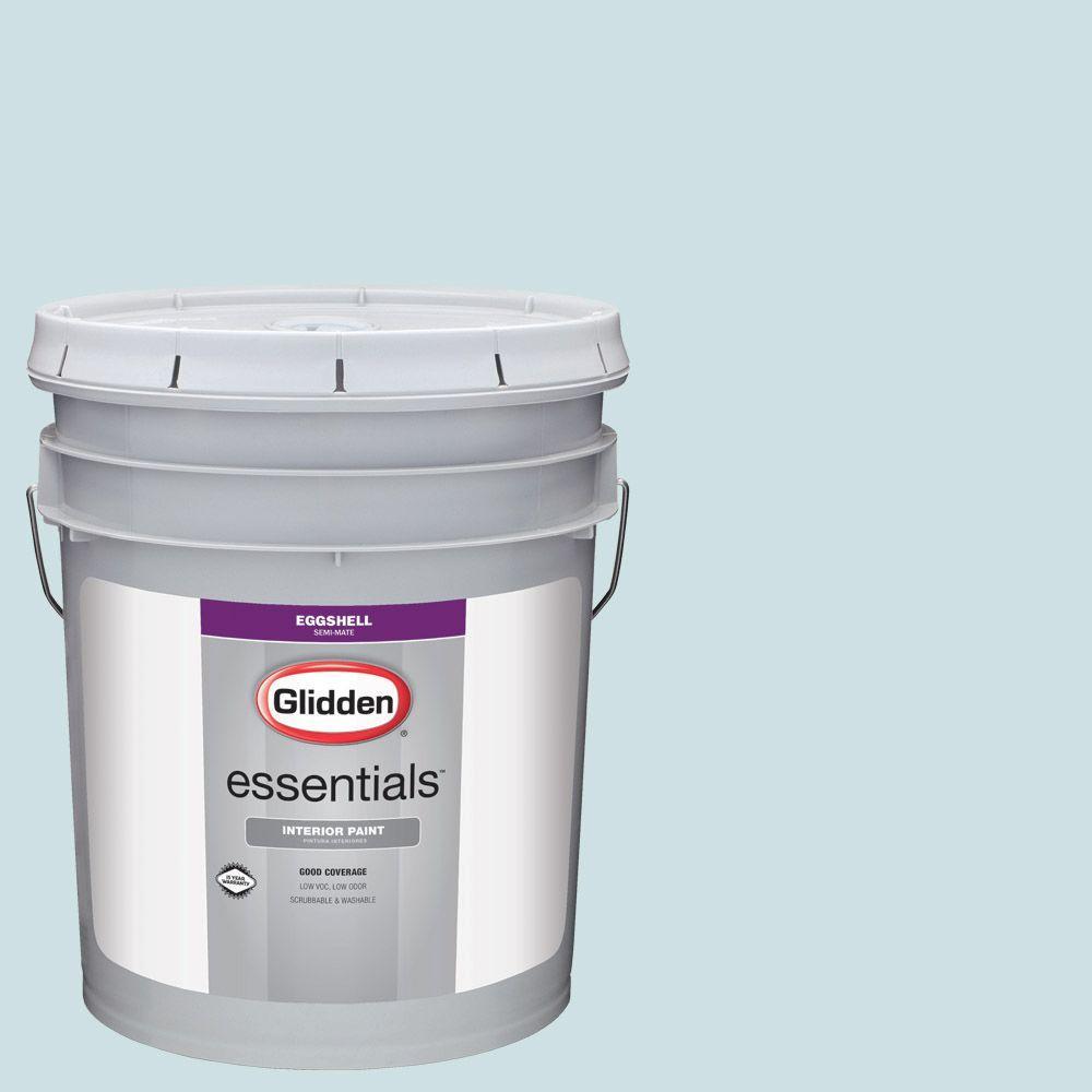 Glidden Essentials 5 gal. #HDGB35 Tropical Surf Eggshell Interior Paint