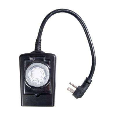 Heavy-Duty Outdoor Timer - Black