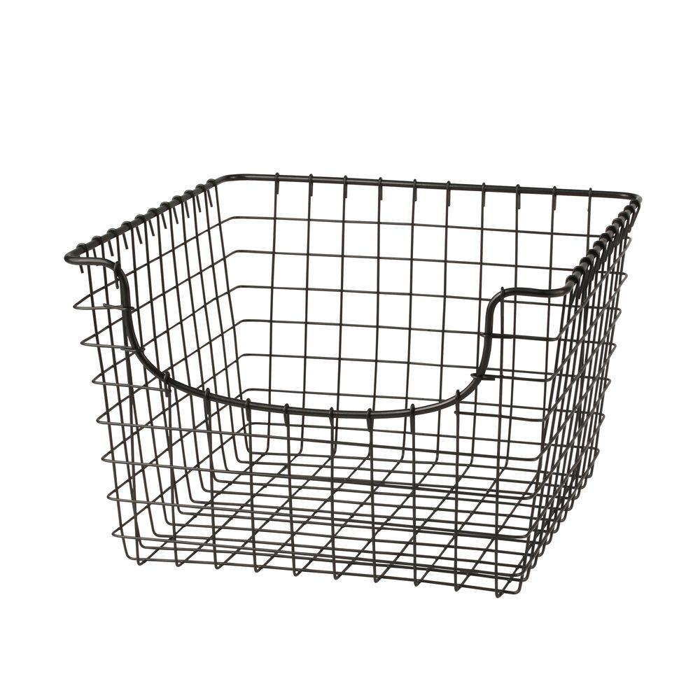 Spectrum Scoop 12.125 in. W x 13 in. D x 8 in. H Medium Basket in Cool Gray