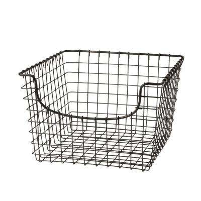 Scoop 12.125 in. W x 13 in. D x 8 in. H Medium Basket in Cool Gray