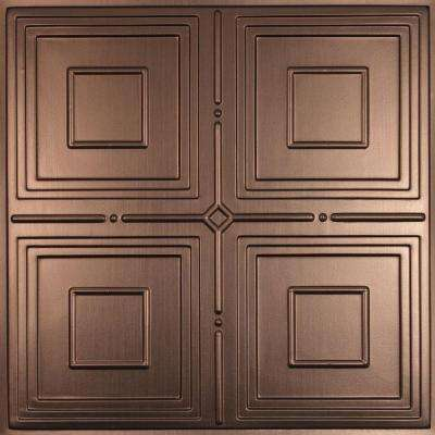Jackson Faux Bronze 2 ft. x 2 ft. Lay-in or Glue-up Ceiling Panel (Case of 6)