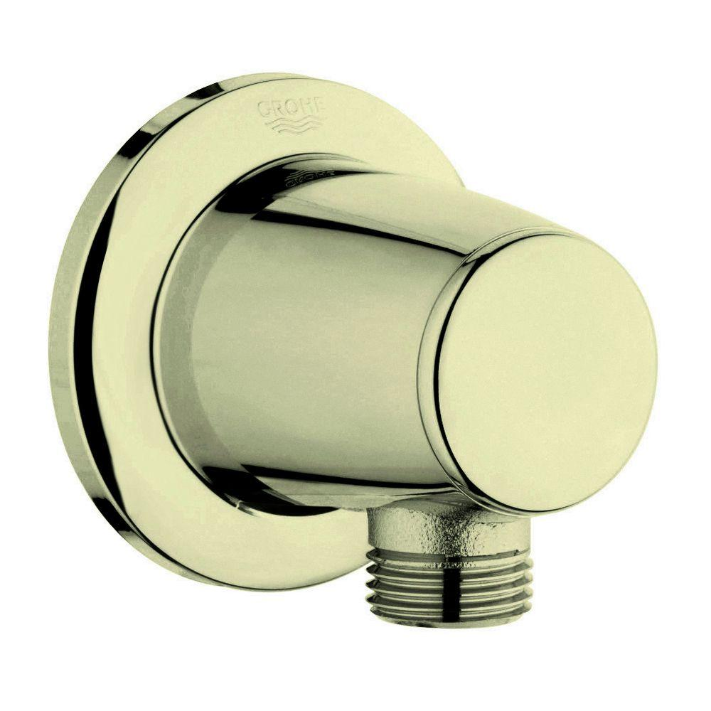 Movario 1/2 in. Brass Wall Union in Infinity Polished Brass for