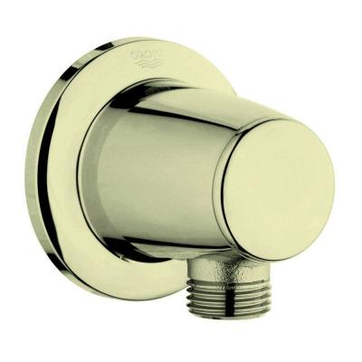 Movario 1/2 in. Brass Wall Union in Infinity Polished Brass for Shower Hose