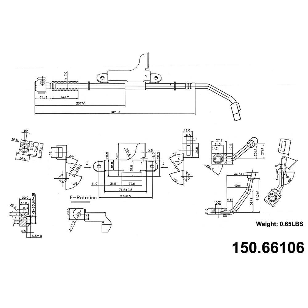 centric brake hydraulic hose