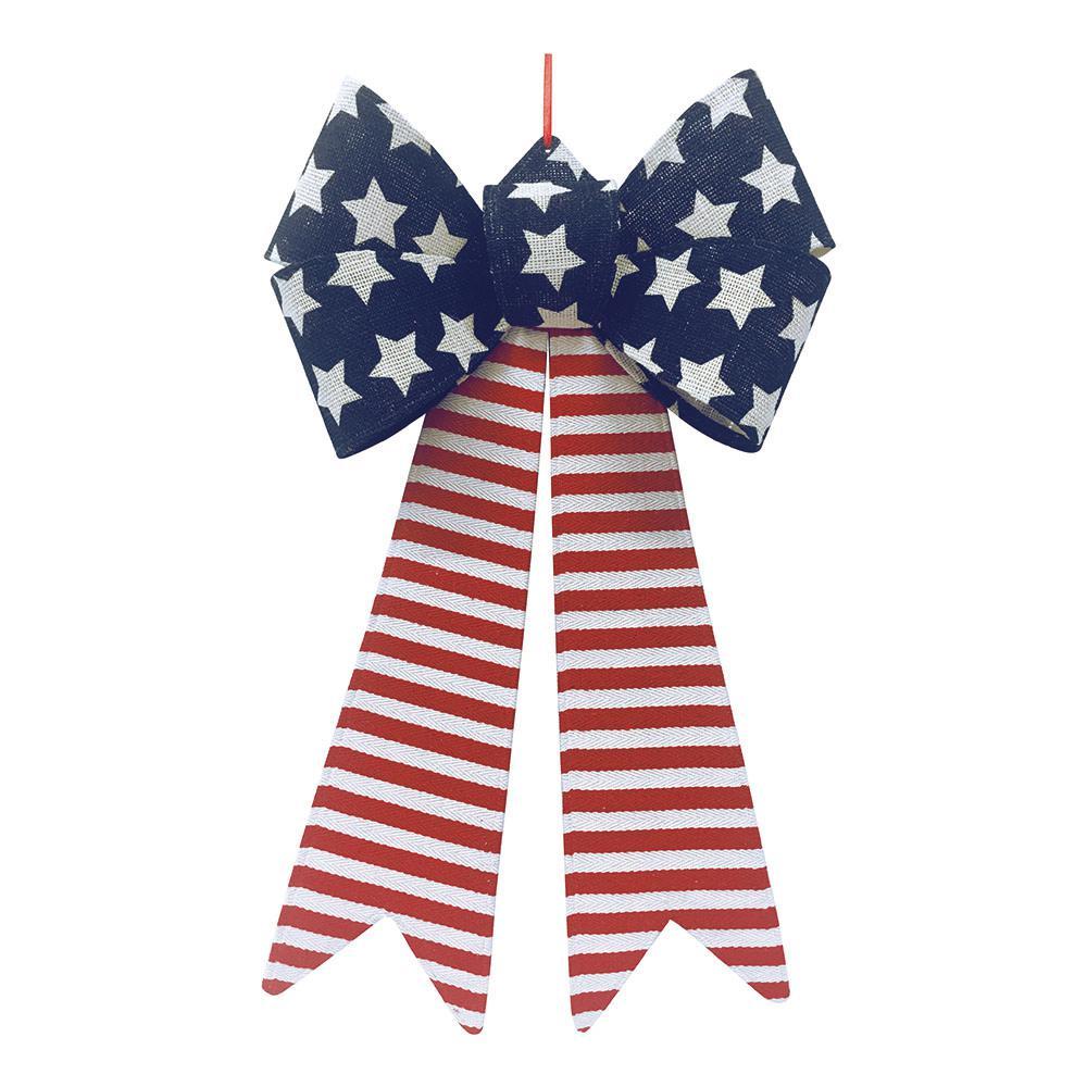 28 in. Patriotic Bow