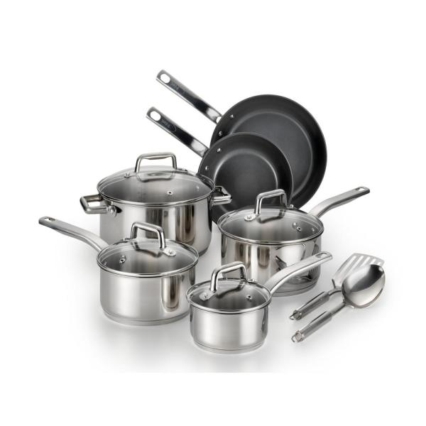 T-fal 12-Piece Precision Ceramic Stainless Steel Cookware Set C718SC64