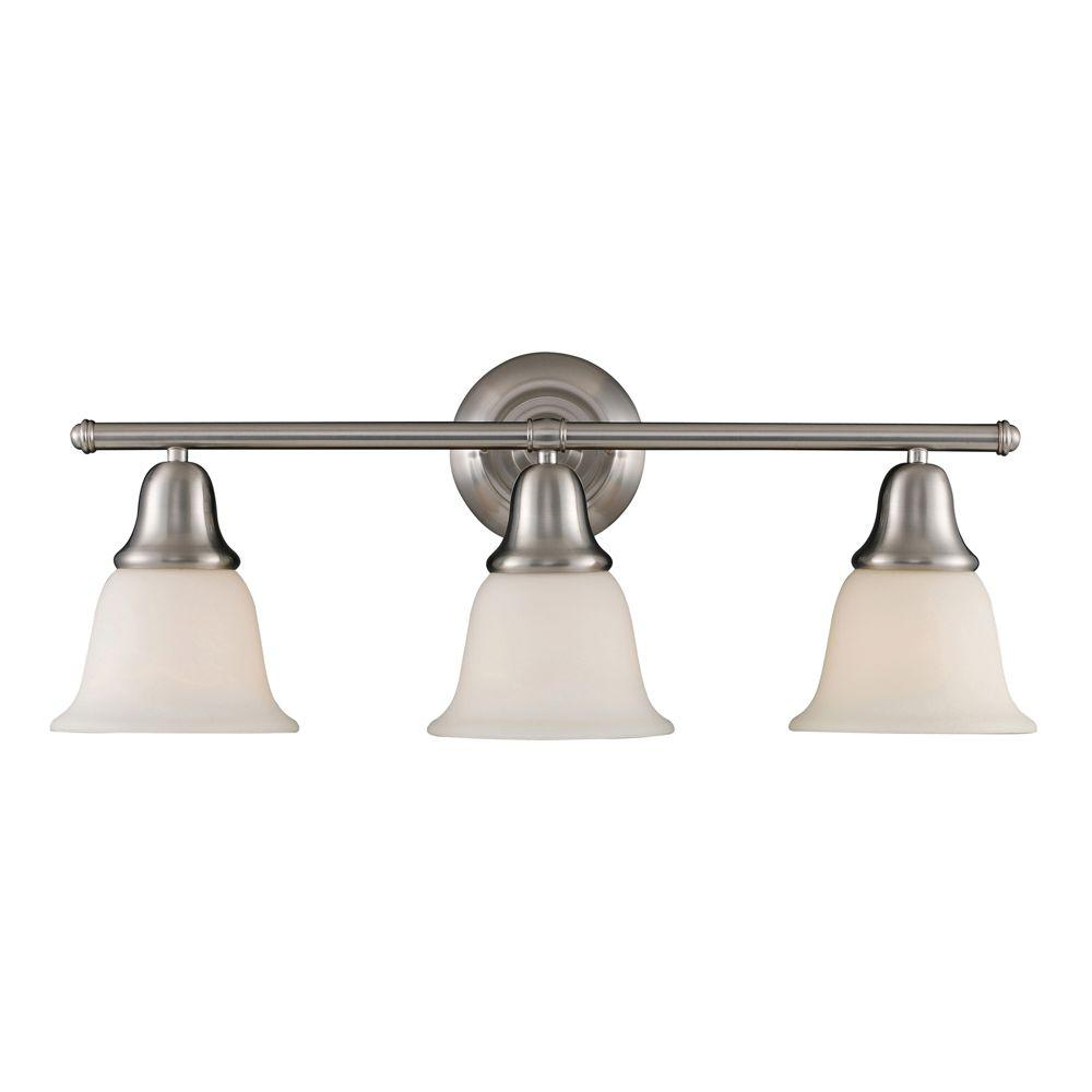 Berwick 3-Light Brushed Nickel Wall Mount Bath Bar Light