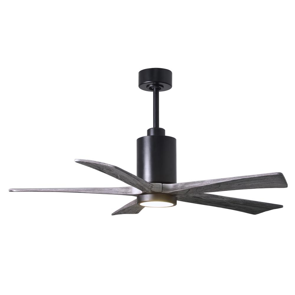 Atlas Patricia 52 in. LED Indoor/Outdoor Damp Matte Black Ceiling Fan with Light with Remote Control and Wall Control
