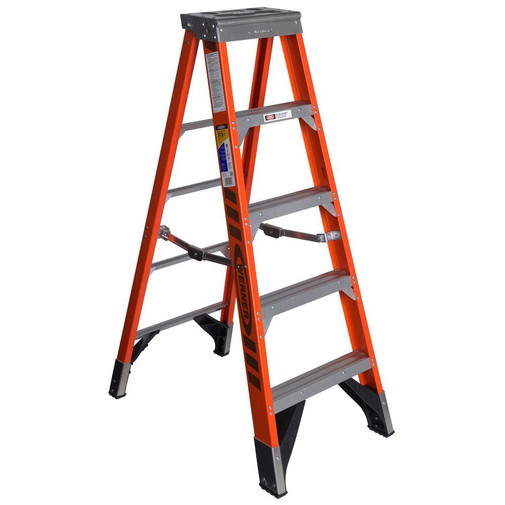 5 ft. Fiberglass Step Ladder with 375 lb. Load Capacity Type