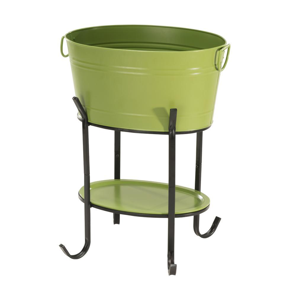 Capri Green Oval Party Tub