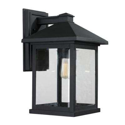 Malone 1-Light Black Outdoor Sconce