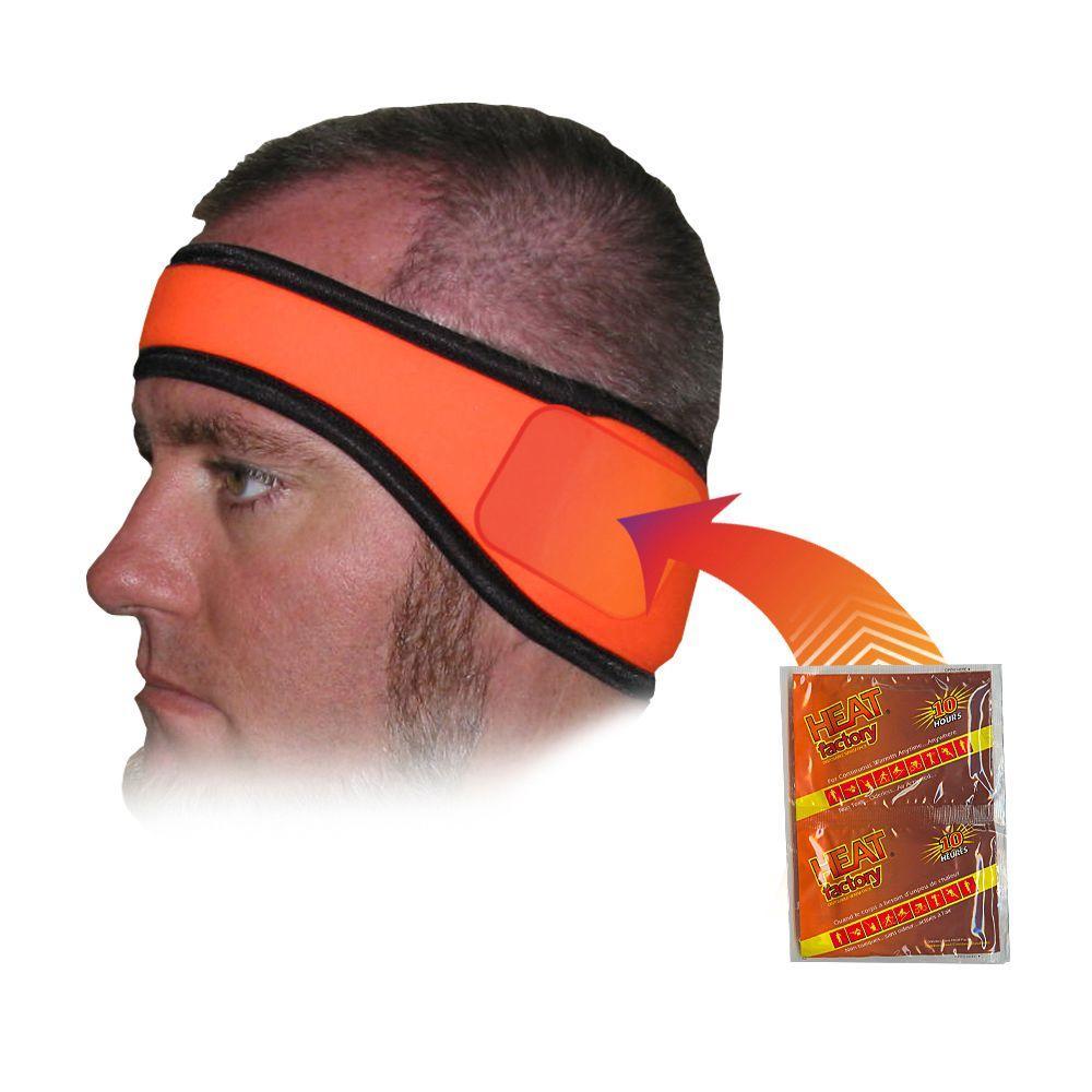 Heat Factory Headband-Blaze Orange, Blaze Orange