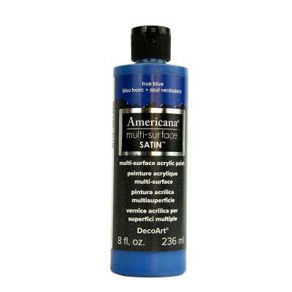 Americana 8 oz. True Blue Satin Multi-Surface Acrylic Paint